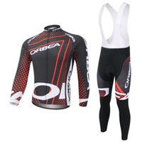 Wholesale Cycling Team Winter Jacket - Wholesale-2015 New Orbea Bicycle Team Winter Thermal Cycling Clothing Fleece Cycling Jacket + Bib Pants Set Free Shipping