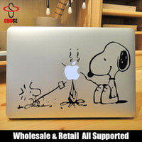 "Wholesale Notebook Apple Sticker - Snopy Campfire Barbecue Laptop Decal Sticker for Apple Macbook Air Pro Retina 11"" 13"" 15"" Vinyl Mac portatil Adesivo Pegatina para notebook"