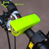 Wholesale Night Ride Bike Light - Wholesale-2015 ROCKBROS USB Rechargeable Silica Gel Bicycle Front Light Waterproof MTB Bike Light Night Riding Cycling Safe Light Lamp