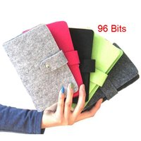 Wholesale Women Suede Leather Wallet - 96 Slots Fashion New Buckle Multi-Card Bits Business cards Large Capacity Bank porte carte credit Card Holder Sets Men Women