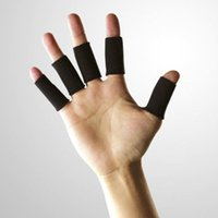 10pcs Nero elastico Finger Protector Sleeve Supporto Artrite Sports Aid FM0268 Etero
