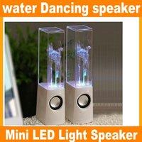 Wholesale Dancing Water Speaker Active Portable - Hot Sales RainDance Fountain Speaker New Brand Dancing Water Speaker Active Portable Mini USB LED Light Speaker For PC MP3 JF-A4