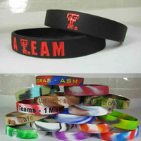 Custom Silicone Bracelet 12mm Wide Debossed Color Filled Custom Logo Silicone Wristband For Promotion Gift