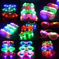 HG103 blinds supplies - Blinking LED Blind Shutter Eye glasses Party Light Up Flashing Novelty Gift Multi Style Party Supplies