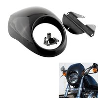 Wholesale Black Headlight Plastic Front Visor Fairing Mask Cover Bezel For Harley Sportster FX XL Motorcycle Auto