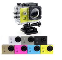 ingrosso schermata lcd della fotocamera del casco-2019-hot D001 impermeabile schermo LCD da 2 pollici stile SJ4000 videocamere 1080P casco SJcam Sport DV 30M Action Camera 20PCS