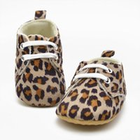 Wholesale Leopard Walking Shoes - Wholesale- Cute Baby Girl Infant Toddler Leopard Crib Shoes Walking