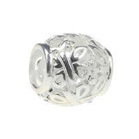 schmetterlingskette groß großhandel-Perlen Hunter Jewelry Authentic 925 Sterling Silber Flying Butterfly Charm Modeschmuck Big Hole Perle Für 3mm European Bracelet Schlangenkette