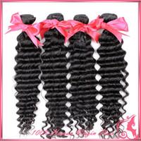 Wholesale Eurasian 5a - On sale Pretty hair products 5A Eurasian deep wave Unprocessed eurasian virgin hair,sexy eurasian curly hair human hair extension