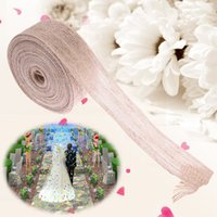 1 шт. Burlap Ribbon Jute Fish Silk Rope Hemp Burlap Strap Wedding Decoration DIY Handmade Gift Wrap Партийное украшение E5M1