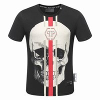 Wholesale Shirts Men Washing - 2018 Autumn Men T Shirt Fashion Short Sleeve t-shirt Clothing Casual Skull Letter print Hip Hop Male Tops Tee #17008