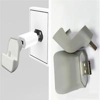 iphone halter für wand großhandel-Micro USB Ladegerät Datum Kabel Halter Wireless Telefon Ladestation Stand Mount Daten Ladegeräte Adapter Halter