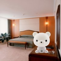 Wholesale led panda lamp - 1pcs 2015 Cute Panda Cartoon animal night light,Kids Bed Desk Table Lamp Night Sleeping led night lamp Gift