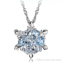 Wholesale frozen jewelry for sale - Group buy Frozen crystal snowflake pendant statement necklaces sterling silver items wedding jewelry vintage top quality charms