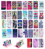 Wholesale Aztec Leather Case - Wallet Flip Leather Dream Catcher Aztec Flower Nutella Tiger Tribal Case TPU Cover For iPhone 4 4S 5 5S 5C 6 Plus Samsung Galaxy S5 S6 EDGE