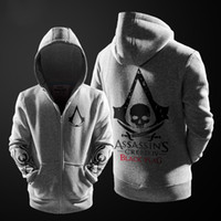Vente en gros Automne-Hiver 2015 <b>Assasins Creed</b> Broderie Mode Manteau Casual Hommes Hoodie Football mens Assassins Creed Vêtements
