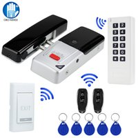 Access Control Kit Set con Wireless Electric Lock Fingerprint Time Machine 433MHz RFID Keypad Card Reader + Telecomando