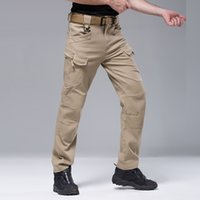 Wholesale Cheap Cargos - Cheap Military Outdoors Urban Tactical Black Pants IX7 Men's Cargo Combat Trousers Army Trainning Cotton Camouflage Pants S-2XL