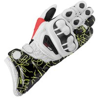 Wholesale white black motorcycle gloves - GP PRO Motorcycle Gloves KTM 4 Colors TOP Leather Motocross Moto Road Racing Gloves Motorbike Protection