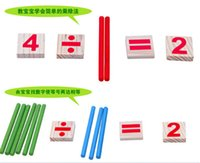 Wholesale Wooden Spindles - Wholesale-1Set Colours Spindles Wooden Counting Game Mathematics Material Toy Educational Toy Learning Math Toys Hot Sale MU871517