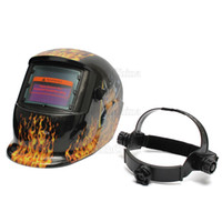 Wholesale Auto Welding Mask - Electrical Flame Sexy Beauty Pro Solar Energy Auto-Darkening Welding Grinding Mask Welding Helmet MAC_101