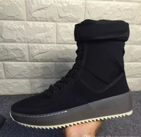 Wholesale Hight Heels Boots - Best Quality Fear of God Top Military Sneakers Hight Army Boots Men and Women Fashion Shoes Martin Boots