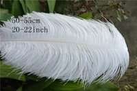 Wholesale Wholesale White Ostrich Feathers - wholesale Ostrich Feather Plumes WHITE for Wedding centerpiece wedding decor Event party supplies deccoraction party supply decor