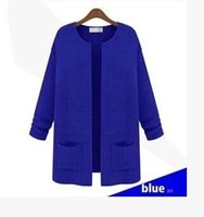 Wholesale New Women s Sweater Medium Long Oversize Sweater Ladies Cardigan Sweater Knitwear Tops Candy colors