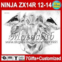 Wholesale zx14 black - Silver not grey black 7gifts For KAWASAKI 12-13 NINJA ZX-14R 2012 2013 2012 2013 ZX 14 R 25C211 ZX 14R ZX14R 12 13 12 13 ZX14 R Fairing