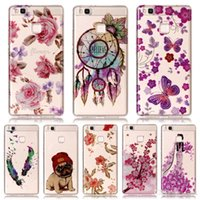 Wholesale Dog Cases Covers - For Huawei P9 Lite Case IMD Bling Flower Dog Print Silicone Phone Case For Huawei P8 Lite 2017 P10 Lite Case Cover