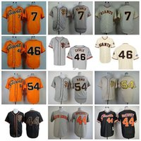 Wholesale Giant Blanco Jersey - 30 Teams- San Francisco Giants Jersey Baseball Shirt 7 Gregor Blanco 46 Santiago Casilla 54 Sergio Romo 44 Willie McCovey Throwback Jersey