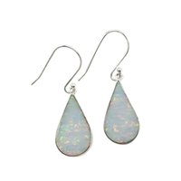 Wholesale Most Popular Chandeliers - Water drop opal earrings the most classic design pure 925 silver popular among woman for all seasons for E1137