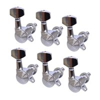 Wholesale Guitar Tuning Locks - Bass Guitar Tuning Pegs 6R Chrome Locked String Guitar Tuning Pegs Keys for Strat Tele Tl Style New Arrivals In stock MU0802