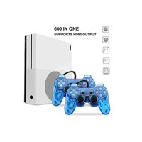 Wholesale ps4 consoles - NEW HD TV Video Game Console Built-in sd card 4GB 600 classic game For GBA SNES SMD Format HDMI out put dual gamepad