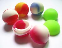 Wholesale Small Silicone Ball - Wholesale quality BPA free FDA food grade non-stick matte finish small oil slick balls slick jars containers for wax oil bho dab concentrate