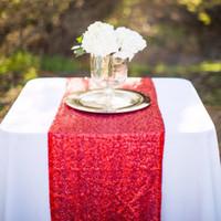 wedding table covers toptan satış-Yeni Geliş Parlak Pullu Tablo İkincisi 11.8