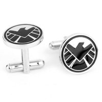 Wholesale Classic Cufflinks Formal Shirt Sleeve Button Sparta warrior shield Pattern Cuff link Agents of S H I E L D