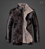 Wholesale Fall New Winter warm motorcycle Leather jacket Men s Casual Brand Jacket luxury fur sheep leather men s Fur coat
