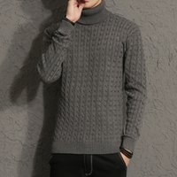 Wholesale Men S Turtle Neck Sweater - New Winter Men Brand Casual Thick Warm Sweater Turtleneck Striped Slim Fit Knitting Men's Sweaters Pullovers Men Pullover M-5XL