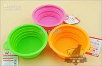 hunde schüssel hoch großhandel-High Grade Fold Pet Bowl Hochwertigen Klapphundeschüssel Pet Food Dish Pet Feeder Kostenloser Versand