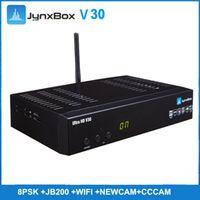 Wholesale Tuner Satellite - Digital satellite receiver jynxbox v30 with tuner jb200 8psk newcam cccam disqec 4*1 for North America