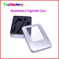 Wholesale Electronic Aluminium Box - eGo Metal Gift Box & EVA for EGO-T K Q Electronic Cigarette ce4 ce5 ce6 MT3 mini protank atomizer eGo Starter Kit Aluminium E Cigarette Case