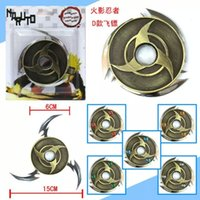 Wholesale Naruto Weapons Free Shipping - Wholesale-Cartoon Naruto Darts Weapon Zinc Alloy Cosplay Prop Metal Weapon Accessories Collections The Christmas Gift Free Shipping