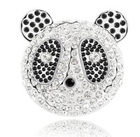 Wholesale Panda Pins - 2016 European and American classic personality cute Chinese panda fine silver brooch LM-B037