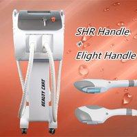 Wholesale Skin Rejuvenation Home Ipl Machines - home ipl machine double handles Laser hair removal e-light ipl Skin Rejuvenation 2000W Higher Power Professional OPT SHR Machine