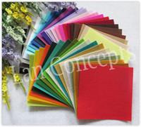 Wholesale Wholesale Craft Felt Sheets - Free shipping DIY Polyester Felt Fabric Non-woven Felt Sheet for Craft Work 42 Colors - 150x150x1mm 84pcs lot LA0073
