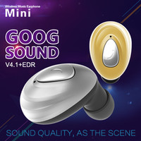 Wholesale Running Music Free - 4.1 mini Stereo Bluetooth Headset In-Ear Car Hands-free Bluetooth Universal Earphone Sport Running Music For iphone Samsung LG Retail Box