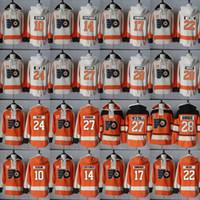 Wholesale Read Orange - Philadelphia Flyers Hoodie 27 Ron Hextall 28 Claude Giroux 22 Dale Weise 24 Matt Read 27 Boyd Gordon Hockey Jersey Hoodies Sweatshirts