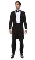 tailcoat personalizado para casamento venda por atacado-Premium Regular Slim Fit Noivo Tailcoat Smoking 2016 Novos Padrinhos de Casamento Dos Homens Ternos de Baile Custom Made (Jacket + Pants + Tie + Vest) Custom Made