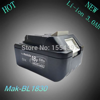 Wholesale Bl1815 Battery - New Spare Rechargeable Lithium Ion 3000mAh Replacement Power Tool Battery for Makita 18V BL1830 LXT400 194205-3 194230-4 BL1815